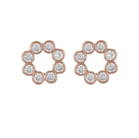 Kate Spade Open Circle Bezel Stud Earrings